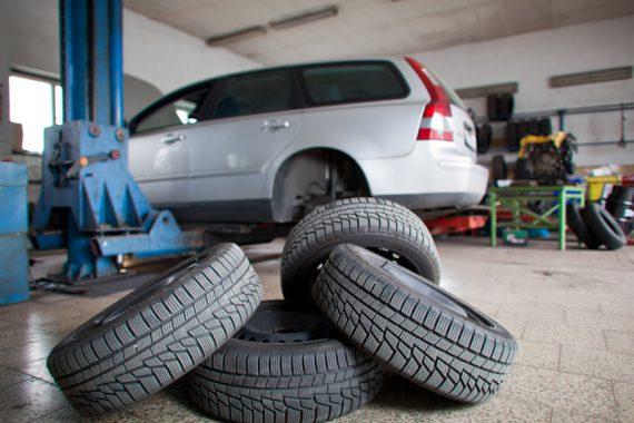 Tyres on floor